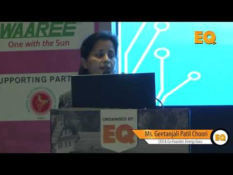 Geetanjali Patil Choori, CEO & Co-Founder, Energy Guru  at Suryacon Pune 2018
