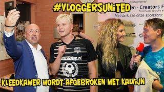 KLEEDKAMER wordt AFGEBROKEN met KALVIJN !! - Vloggers united bij SC Woerden