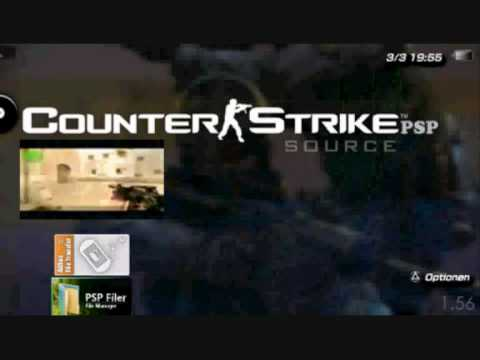 Counter Strike Source 2d On Psp Cspsp 1 56 Youtube