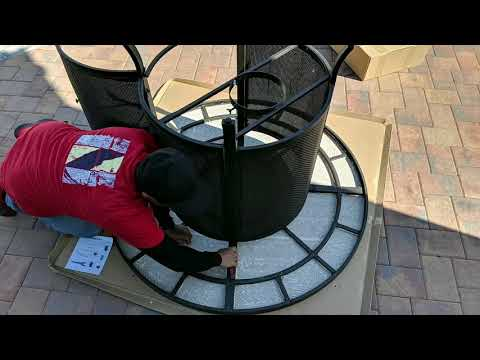 How To Assemble Of The Wilson & Fisher Grandview Round High Dining Fire Pit Table, (54