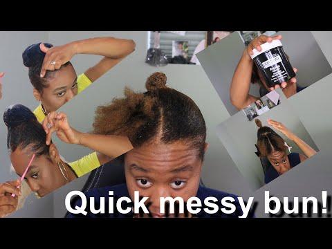 diy-messy-bun-on-short-natural-hair!