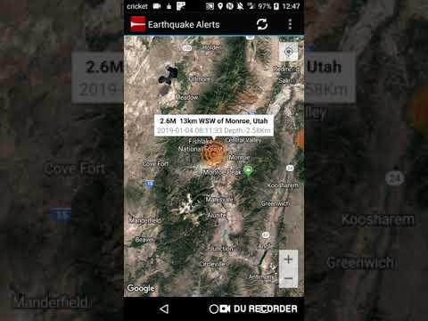 Monroe Utah Earthquake January 4th 2018 Youtube