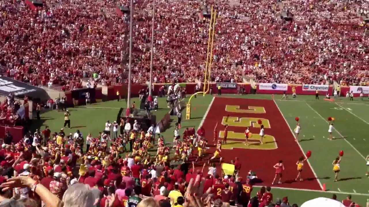 Usc Trojan Field Entrance At The Coliseum