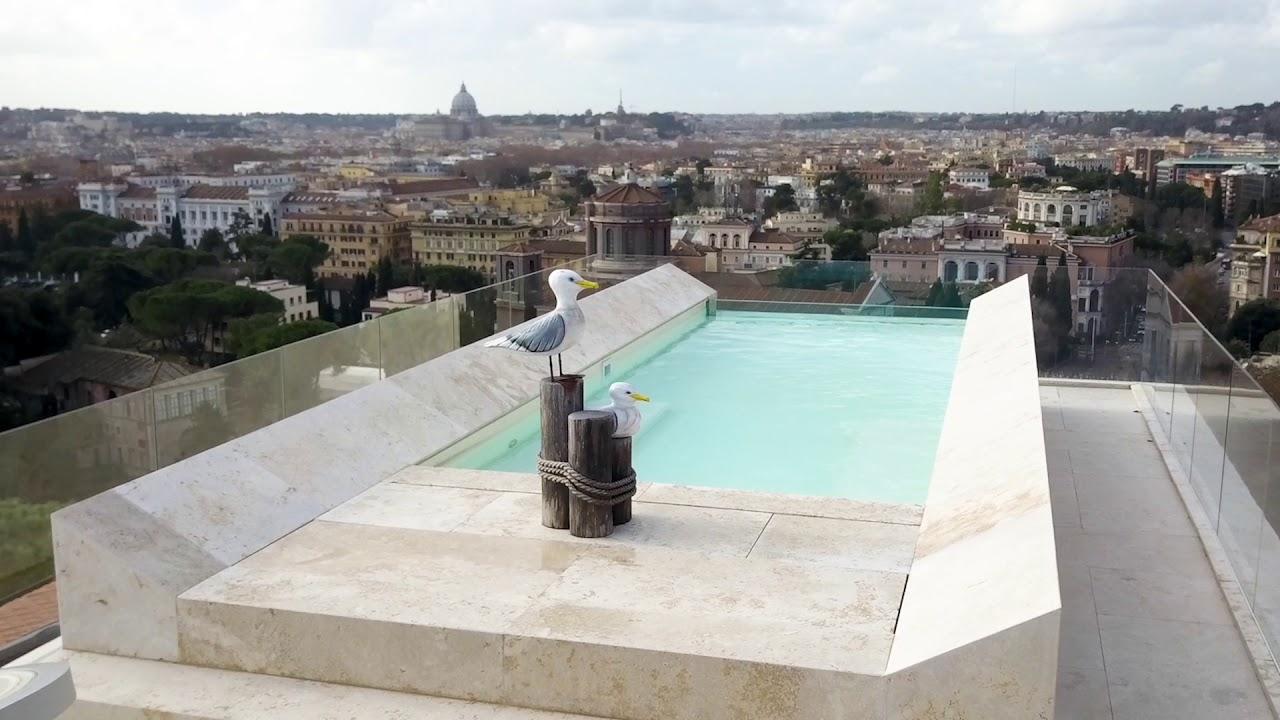 Realizzazione piscina a sbalzo su attico a Roma  YouTube