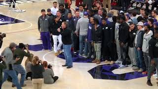 Alamo Bowl-winning TCU football team honored at hoops game