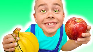 Apples and Bananas Song   Nursery Rhymes & Kids Songs by Tamiki Amiki