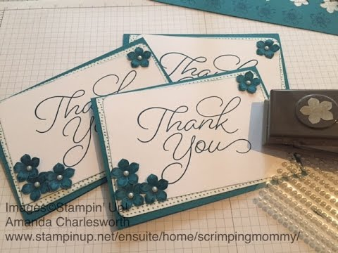 Beautiful But Simple Thank You Cards With Stampin' Up! Goods