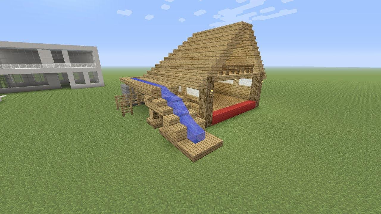 Minecraft een huis met waterval maken titoxnl youtube for Huis maken minecraft