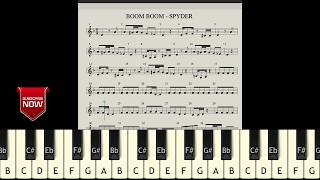 BOOM BOOM - SPYDER (HOW TO PLAY) MUSIC NOTES