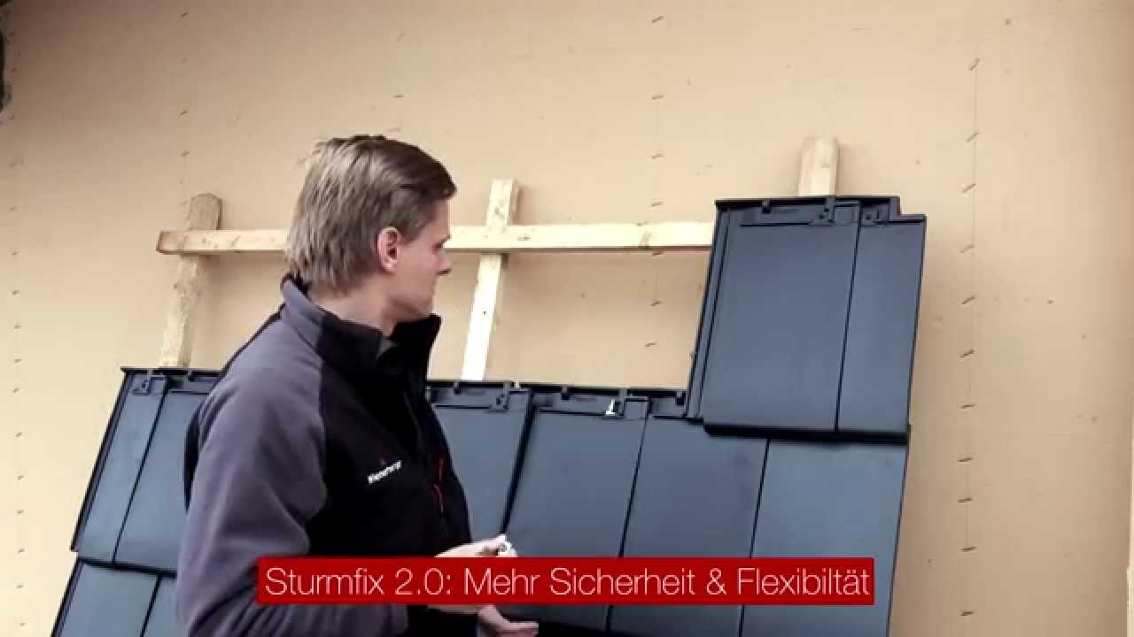 koramic dachl sungen windsogsicherung sturmfix 2 0 youtube. Black Bedroom Furniture Sets. Home Design Ideas
