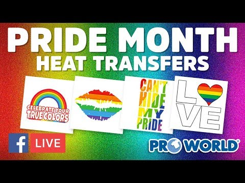 Pride Month Heat Transfers