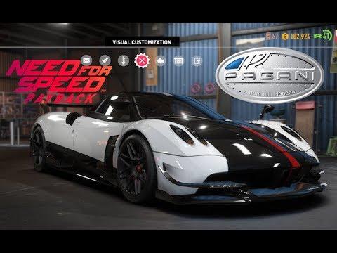need for speed payback - pagani huayra bc - vehicle customization