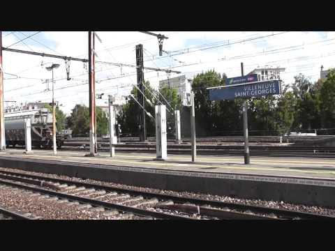 [HD] Gare de Villeneuve Saint Georges le 31 août