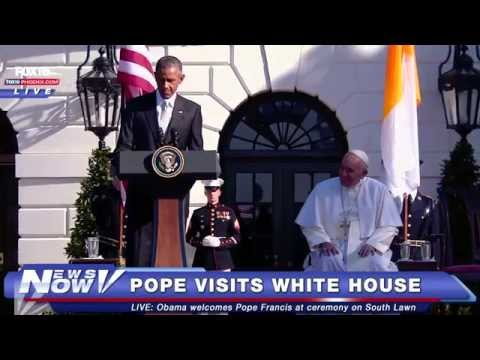 FNN: Welcome Ceremony for Pope Francis at White House South Lawn