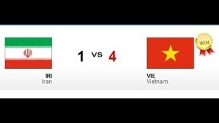 U23 Vietnam vs U23 Iran 4-1 (Group H   ASIAD 2014   Incheon Korea)