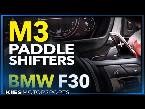 How to Retrofit F80 M3 Paddle Shifters on an F30 Steering Wheel  (2013 BMW 335 m sport demo car)