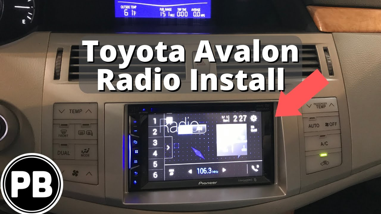 2005 2010 Toyota Avalon Touch Screen Stereo Install Youtube Wiring Harness
