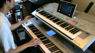 Hotel California Solo Keyboard - Yamaha Tyros 2 and Korg Triton Studio