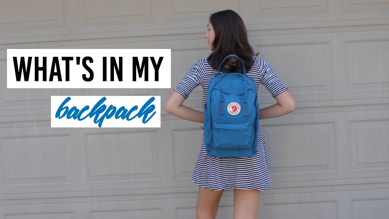 Fjällräven Kanken Backpack Review + What s in my High School Backpack 211a8757ea5e1