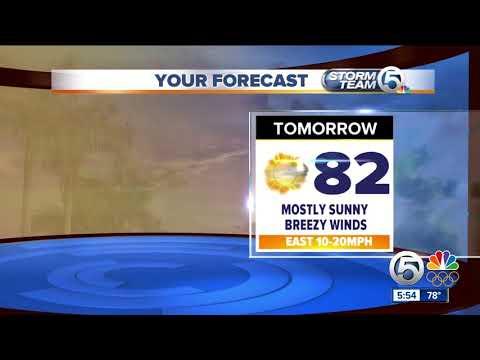 Latest Weather Forecast 6 p.m Wednesday