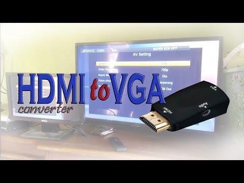 Nonton TV dengan LCD Komputer Bekas dengan HDMI to VGA Converter