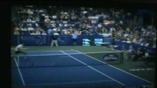 Andy Roddick amazing Diving Shot on Championship Point against milos
