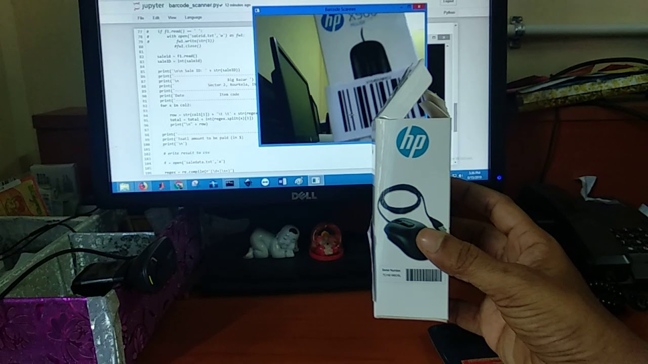 A Standalone Application to Scan Barcode using Webcam