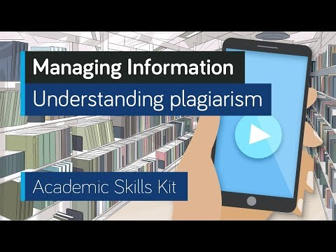 ASK Online Learning Resources 3.3: Managing Information - Understanding plagiarism