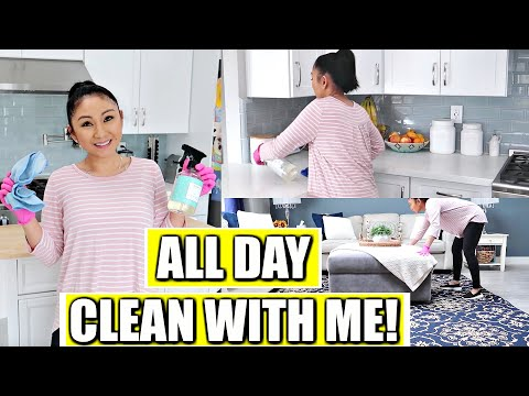 ALL DAY DAY CLEAN + ORGANIZE WITH ME! | Spring Clean With Me 2019!