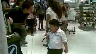Sican Singing May Bukas Pa in a mall.mp4