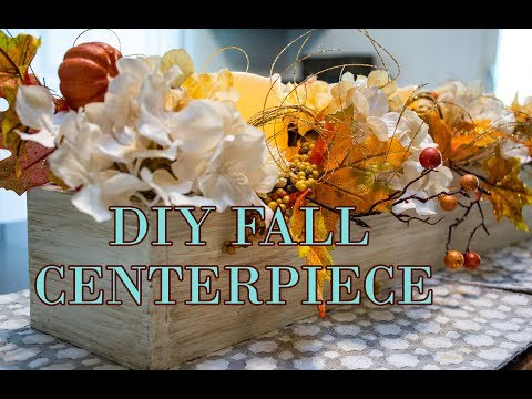 How To Make A Farmhouse Style Long Box And A Fall Centerpiece
