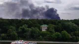 08.07.2015 - В Москве горит территория бывшего завода ЗиЛ