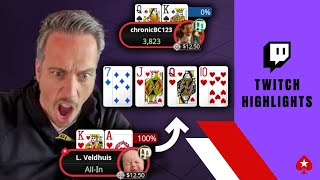LUCKIEST Poker Hands of Last Month ♠️ Twitch Highlights ♠️ PokerStars