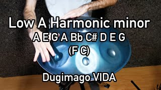 Dugimago Vida Low A Harmonic minor 8 (2) + Ding Scale