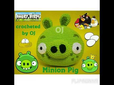 Tutorial Amigurumi Angry Bird : Angry birds crochet pig plushie crochet pig angry birds and