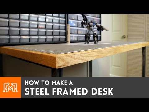 Steel framed standing desk (electronics station)  // How-To