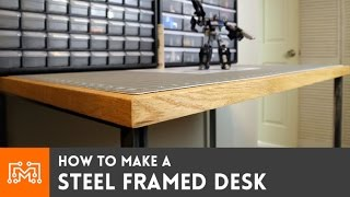How To Make A Steel Framed Standing Desk (electronics Station)