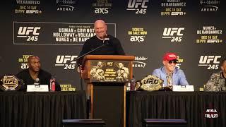 Kamaru Usman & Colby Covington heated exchange highlights at UFC 245