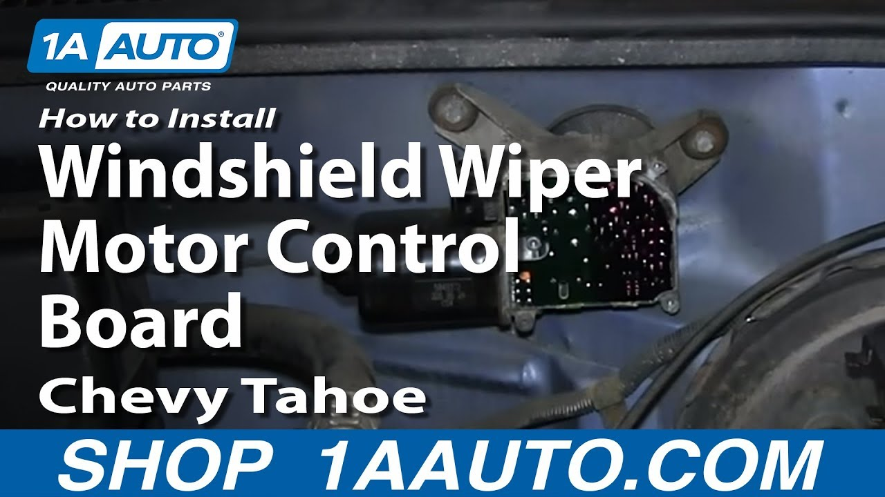 How To Install Replace Windshield Wiper Motor Control