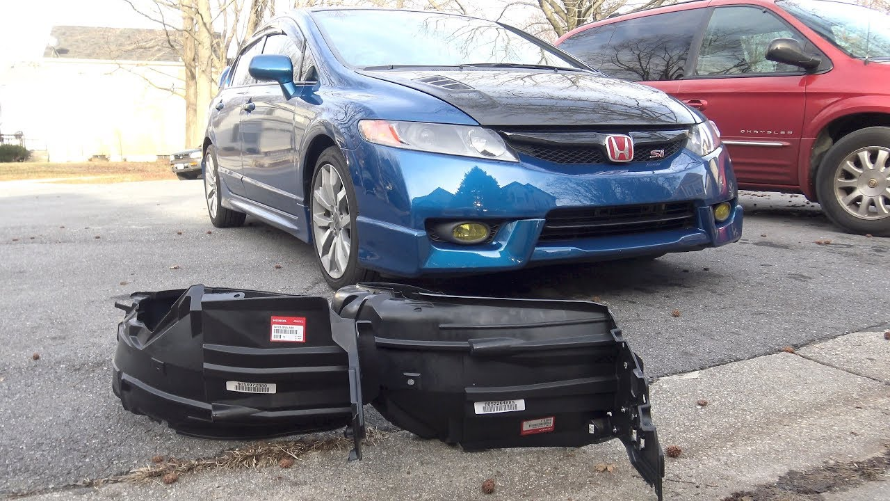 Installing New Fenders Liners 06 11 8thgen Honda Civic Si Youtube