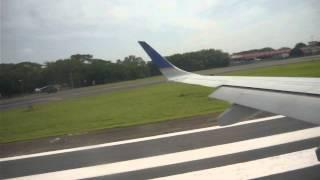 Despegando de Managua Nicaragua Copa Airlines CM407