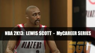 "NBA 2K13: Lewis Scott ""My Career"" EP4 (First NBA Game)"