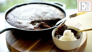 Beth's Warm Chocolate Skillet Cake   ENTERTAINING WITH BETH