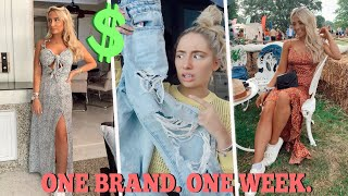 I wore ONLY one clothing brand for a week!! 😱 Ad