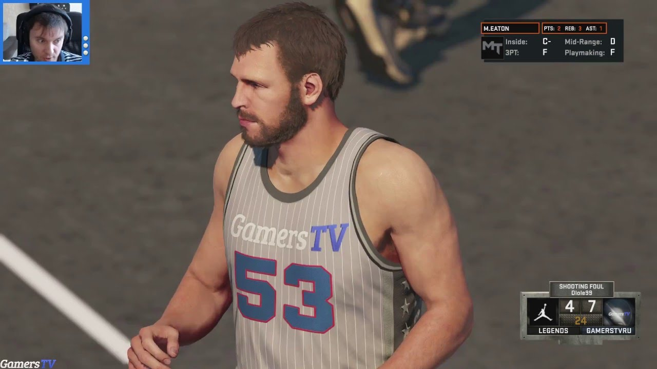NBA 2K16 Mark Eaton и другие амбаРы чиз в Gauntlet