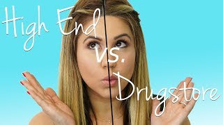 Drugstore Makeup Vs. High End Makeup - Can We Tell The Difference?