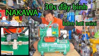 Máy bơm hơi Nakawa xách tay 20L không dầu Nk25-20