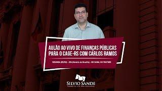 Aulão ao vivo de Finanças Públicas com Carlos Ramos