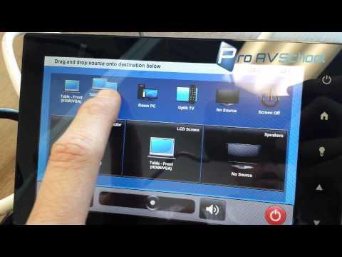 Crestron Smart Graphics Matrix Switcher Widget Demo - YouTube