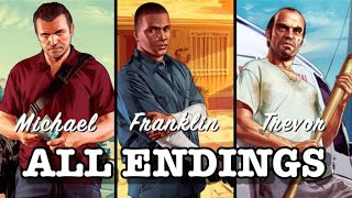 Repeat youtube video Grand Theft Auto 5 - All Endings (A, B, and C)
